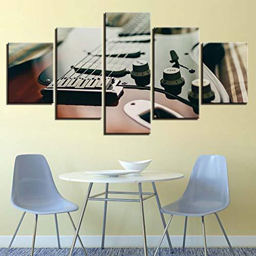 Lienzos For Living Room Wall Art 5 Unidades Afinador de Guitarra Eléctrica...