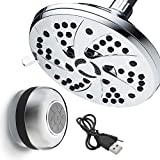 AquaDance High-Pressure Setting inch (Spiral 6-Function Rainfall Shower Head and...