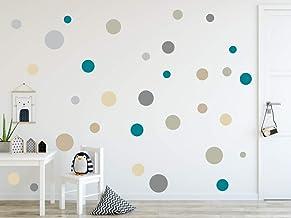 timalo® 73078 Lot de 120 stickers muraux pour chambre d'enfant Motif cercles pastels, Set 4, Lot de 120
