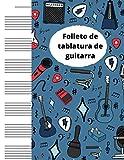 Folleto en blanco de la Tablatura de la Guitarra: Su apoyo para tocar la guitarra