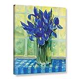"Tremont Hill Carol Rowan Windowsill Floral III ギャラリーラップキャンバス 18X24"" ブルー 2row017a1824w"