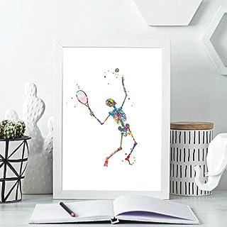 Poster Moving Skeleton Silhouette Art Print Skeleton Anatomy Medical Poster Orthopedist Gift Wall Art Canvas Painting Clin...