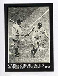 """Babe Ruth ベーブ・ルース 1992 Megacards #86 Lou Gehrig""""予告ホームラン (ヤンキース) 1932年"""""""