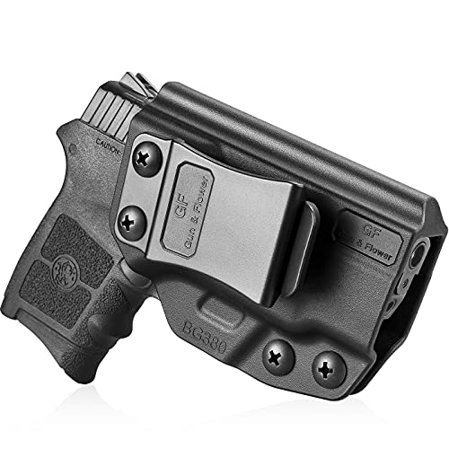 Bodyguard 380 Holster, IWB Kydex Holster Compatible with M&P Bodyguard 380 Auto & Integrated Laser Pistol, Inside Concealed Carry Holster, Adj. Cant, Adj. Retention, Available in Kydex and Polymer