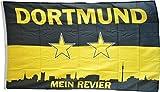 Flaggenfritze Fahne/Flagge FanFlagge Dortmund Mein Revier Sterne - 150 x 250 cm + gratis Sticker, XXL-Fahne