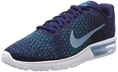 Nike Men's Air Max Sequent 2 Running Shoe Binary Blue/Cerulean/Black/Blustery Size 11.5 M US