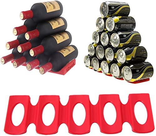 iZoeL 1 pz Portabottiglie Vino Lattine, Silicone Portabottiglie Universale, Per Frigo Portabottiglie Bottiglia Vino Birra