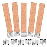 40 pcs/lote de madera cera mecha de vela para la fabricación artesanal de bricolaje hecho a mano(12.5×150mm)