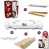 Sushi maker Merci Myself -Sushi Bazooka // REGALO: Ricette EBOOK + 2 paia di bacchette + Titolare bacchetta + Sushi stuoia di bambù // DIY Japan utensile per realizzare sushi maki Fatte in Casa