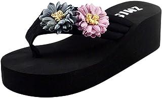 comprar comparacion Luckycat Sandalias y Chancletas Mujer Verano 2019 Zapatos de Playa con Sandalias de Tanga de Fondo Grueso Moda Retro Playa...