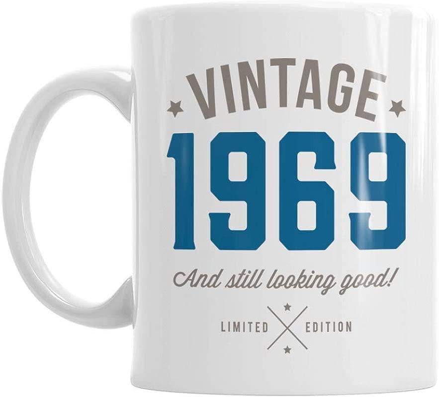 50th Birthday Vintage Gift Mug Present For 50 Men Women 10oz Coffee Mug