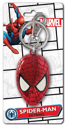 Marvel Spider-Man Colored Head Pewter Key Ring Multi-colored, 1'