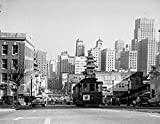 USA California San Francisco Traffic with cable car Poster