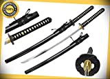 41'' Chunin 65MN Spring Steel Hand Forge Iaito Japanese Katana Sword with Scabbard perfect for cosplay outdoor camping
