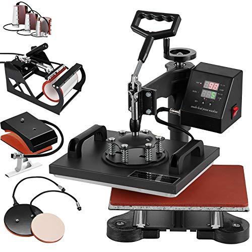 "SmarketBuy 8 in 1 Digital Multifunctional Heat Press Machine 12"" x 10"" Heat Transfer Machine for T Shirts Hat Mug Cap Plate"