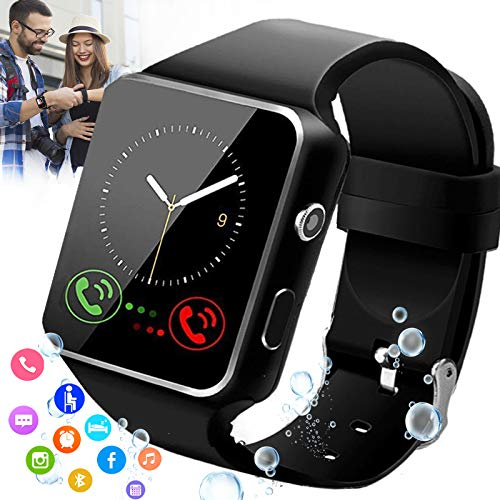 Burxoe Smart Watch,Smartwatch for Android Phones,Smart Watches Touchscreen with Camera Bluetooth Watch Phone with Sim Card Slot Compatible Samsung Android iOS Phone 12 12 Pro 11 10 Men Women