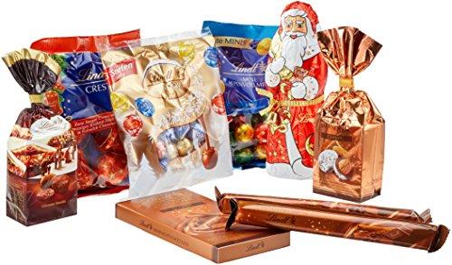 Lindt Weihnachtliche Kostbarkeiten, großes Schokoladengeschenk zu Weihnachten in goldener Geschenkbox, 883 g