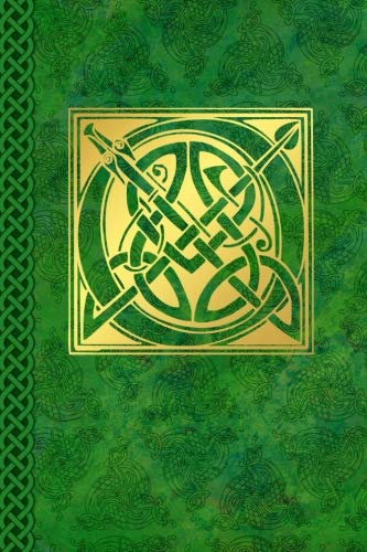 Celtic Letter O Vintage Irish Monogram Journal: Green Gold Celtic Knot Name Initial Diary Blank Lined Book