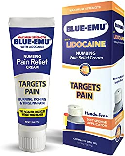 Blue Emu Blue-emu lidocaine Pain Relief Cream Non-Child Resistance Cap, Odor Free, 2.7 Ounce