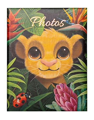 Grupo Erik AF100101503 Album Fotografico 100 Tasche per Foto di 10x15 cm, Copertina Rigida, Il Re Leone Nature, 17x13x5 cm