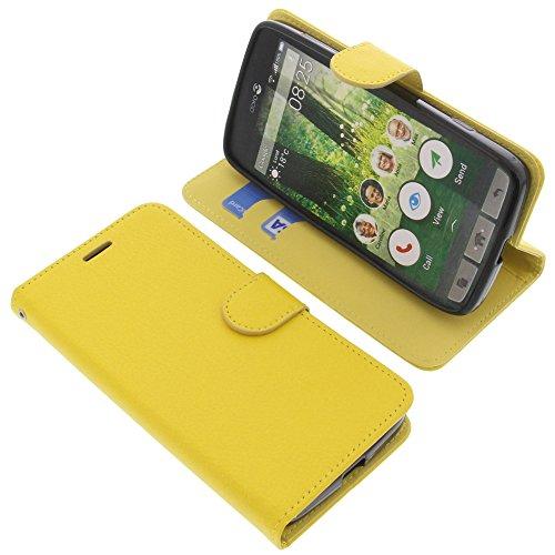 foto-kontor Tasche für Doro Liberto 825 Book Style gelb Schutz Hülle Buch