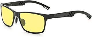 for Driving - Sport Bike Protection Sunglasses Knight Visor Polarized Anti Glare HD Night Vision Glasses (Yellow color)