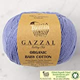 5 ovillos (paquete) Gazzal orgánico bebé algodón...