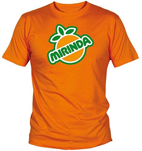 Desconocido Camiseta Mirinda Adulto/niño EGB ochenteras 80´s Retro (XL, Naranja)