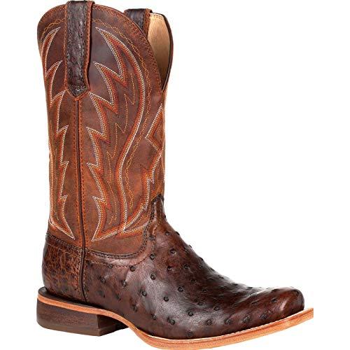 Durango Premium Exotic Full-Quill Ostrich Chestnut Western Boot Size 12(M)