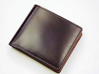 日本製 コードバン 二つ折財布
