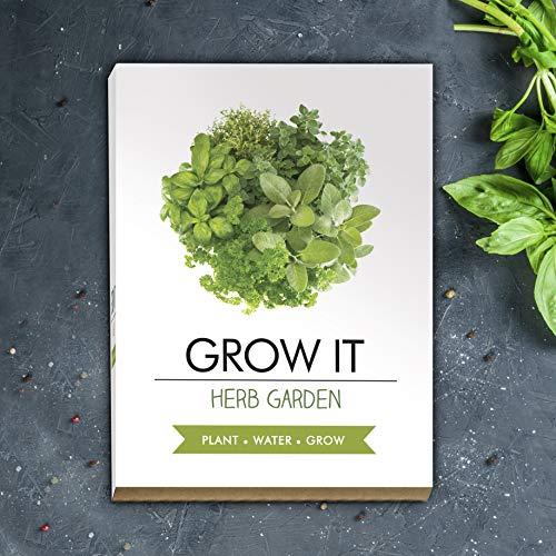 Gift Republic Grow It Kit pour cultiver Vos Propres Herbes aromatiques