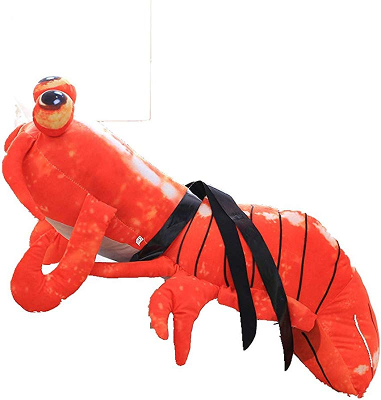 RJZDSCS Lobster Plush Doll Pippi Shrimp We Walk Plush Toys Funny Lobster Pillow Gift 50 70 90Cm 50Cm