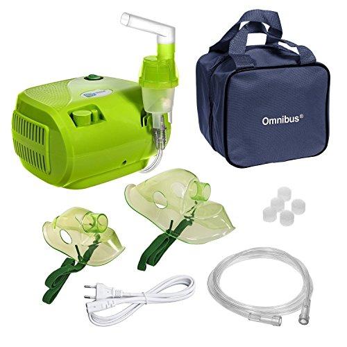 Omnibus BR-CN116 - Nuevo inhalador compresor Nebulizador Inhalador compacto para nebulizador inhaladores bebe electrico, Verde