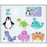 ACHICOO 6 en 1 Niños Bebé de dibujos animados Animal Patrón Puzzles Educación Temprana Juguete de Madera Vida Marina