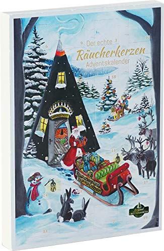 Crottendorfer Räucherkerzen - Räucherkerzen Adventskalender, 24 verschiedene Düfte