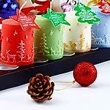 VIVIANU Kerzenform 3D Weihnachtszylinder Silikon Kerzen Seifenform Fondant Kuchen Schokoladendekor