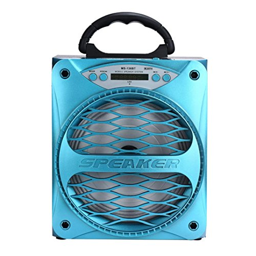 New Bluetooth Speaker, ZYooh Outdoor Bluetooth Wireless Portable Speaker Super Bass with USB/TF/AUX/...
