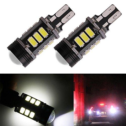 TABEN CANBUS sans Erreur W16W 921 912 906 T15 Super Bright 800 Lumens 6000K Blanc xénon Haute Puissance 5630 + COB Chipsets LED Lights Ampoules pour Back Up Reverse Light (Pack de 2)