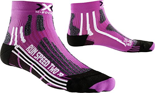 X-Socks Damen Laufstrumpf RUN SPEED TWO, Violet/Black, 39/40, X020436