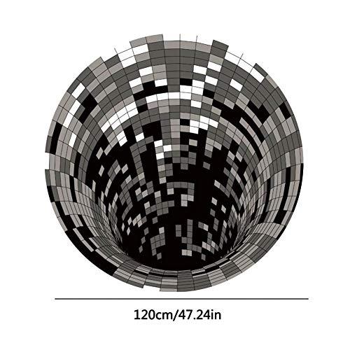 miss-an Illusion Teppich | 3D Visueller Teppich, Weich | Polyesterfaser | rutschfest | Anti-Rutsch - Wirbel Teppichmatte Für Esszimmer Schlafzimmer Wohnzimmer Home Decor, 5 Größen