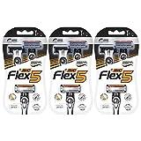 BIC Flex 5 Men's 5-Blade Disposable Razor, 2 Count - Pack of 3 (6 Razors)