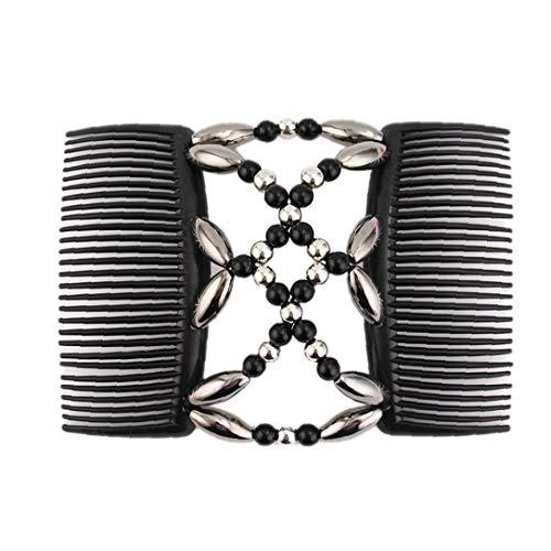 Perlen Haarkämme Magie-elastische Haar-clips Stretchy Haare Kämmt Doppel Clip Für Weibliche Mädchen Haarschmuck