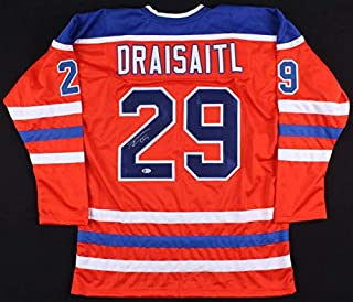 Leon Draisaitl Autographed Signed Oilers Jersey Beckett 3Rd Overall Pick 2014 Nhl Draft