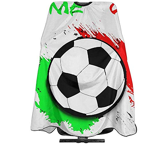 Haarsnit Cape Voetbal Ballon Mexico Vlag Barber Polyester Kapper Supplies Schort Professionele Salon Cape Cover Aangepaste Kappers Cape Licht Gewicht Unisex