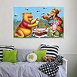 KWzEQ Oso y árbol de Miel Dibujos Animados habitación Infantil Imagen de la Pared Cartel HD decoración del hogar,Pintura sin Marco,30X45cm