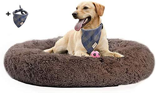 LRuilo - Cama grande para perro, sofá grande, lavable, cojín de lujo suave y cómodo para perros