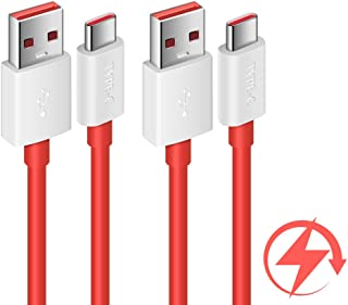 COOYA Dash Charge Cable Replacement for OnePlus 7 Charging Cable, Warp Charge Cable for OnePlus 7 Pro/ 7T, 6FT 2Pack Type C Cable Dash Charging for OnePlus 6T/ 6, OnePlus 5T/ 5, OnePlus 3T/ 3, Red