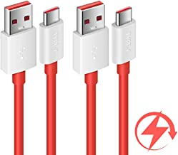 COOYA Dash Charge Cable Replacement for OnePlus 7 Charging Cable, 4A Warp Charge Cable for OnePlus 7 Pro, 6.6FT 2Pack Type C Cable Dash Charging for OnePlus 6T/ 6, OnePlus 5T/ 5, OnePlus 3T/ 3, Red