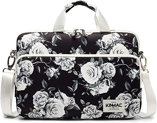 Kinmac 360° Protective Water Resistant Laptop Sleeve Bag Case with Handle and Detachable Shoulder (12.5 inch-13 inch, Grey Rose)