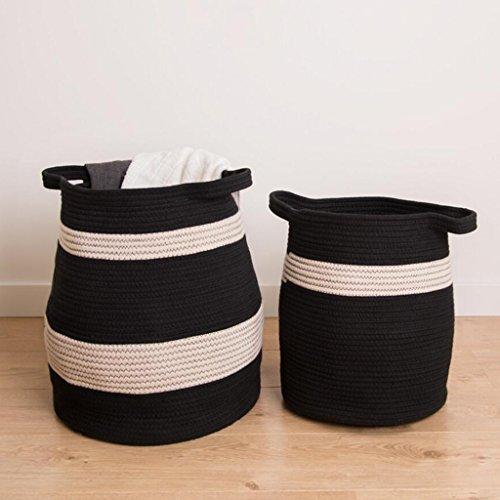 Xuan - Worth Another Fil de Coton Noir et Blanc Sale vêtements Panier Magasin Sale vêtements paniers Jouet boîte de Finition (Taille : Moyen)